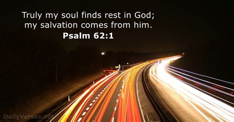 Psalm 62:1 - ESV - Bible verse of the day - DailyVerses
