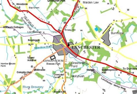 [Map of Lanchester