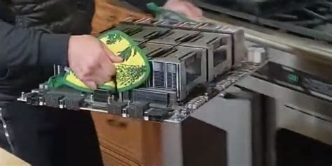 NVIDIA HGX 2 Tesla A100 Edition With Jensen Huang Oven